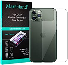 MARSHLAND 2.5D Back Tempered Glass Anti Scratch Anti Fingerprint Screen Protector Compatible for iPhone 11 Pro (5.8, Transparent)