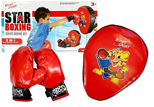Sport Spielzeug, Box Set für Kinder, Boxhandschuhe mit Handpratze, Junior Box Set