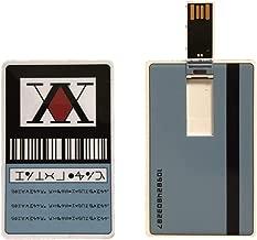 Hunter x Hunter License Card USB Stick GING Freecss Japan Anime Card USB Flash Drive(Blue)