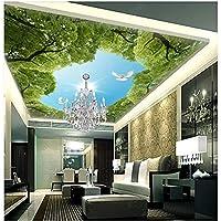 写真壁画3D天井壁画壁紙HDピジョンウッズ空の背景家の装飾リビングルームの壁紙3D400X280cm