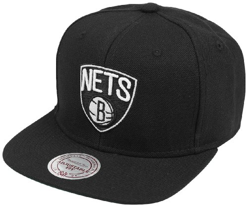 Mitchell & Ness - Casquette Snapback Homme Brooklyn Nets Wool Solid 2 - Black