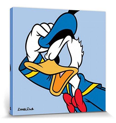 1art1 Donald Duck - Profil Bilder Leinwand-Bild Auf Keilrahmen | XXL-Wandbild Poster Kunstdruck Als Leinwandbild 40 x 40 cm