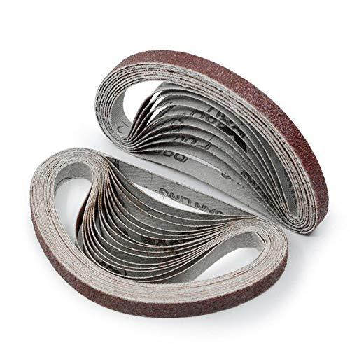 10 piezas 452 mm * 15 mm pulido y pulido de repuesto de papel de lija de lijado para máquina amoladora angular eléctrica, 10 piezas P600