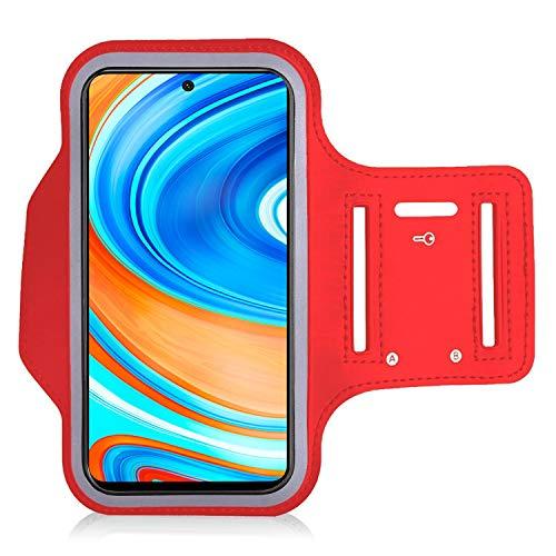 KP TECHNOLOGY Xiaomi Redmi Note 9 Pro Redmi Note 9S Brazalete - Funda para correr, ciclismo, senderismo, canoa, caminar, equitación y otros deportes para Xiaomi Redmi Note 9 Pro Redmi Note 9S (rojo)