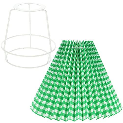 WNAVX 1 Conjunto de Pantalla Lámpara Pantalla Lámpara Plicada Pantalla Plicada Personalizada (Color : Green, Size : 24X16CM)