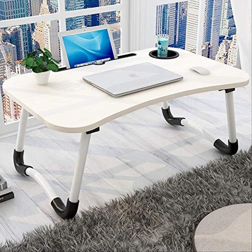 Inicio portátil cama plegable portátil soporte marco dormitorio sala de estar pequeño escritorio estudiante mesa 6040 blanco