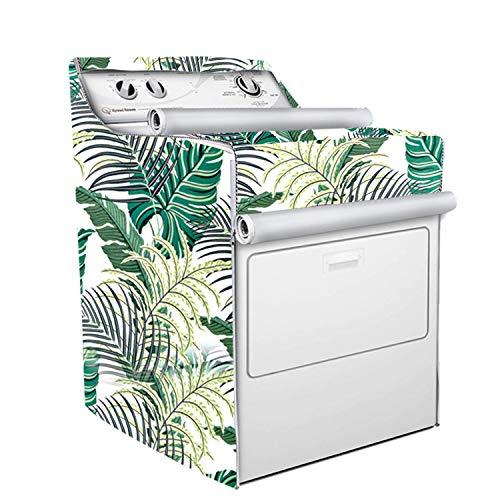 Cubierta de lavadora/secadora para máquina de carga superior, impermeable, a prueba de polvo, resistente al sol, W29 pulgadas D28 pulgadas H43 pulgadas, apto para la mayoría de...
