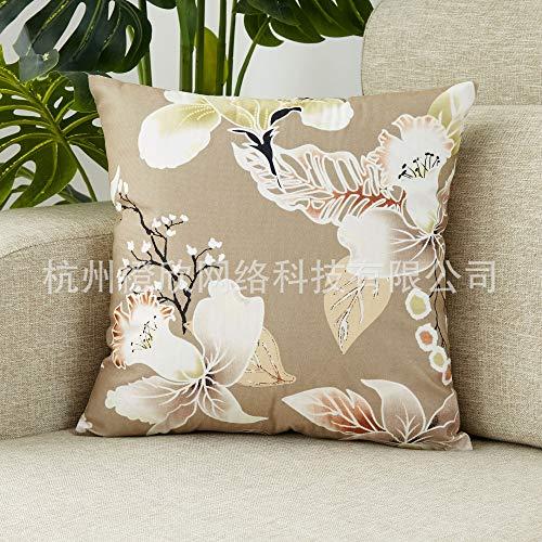 Dong Colours Kissenbezug, Mako Satin, Weiß, 80 X 80 cm