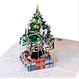 ZSS 3Dカラー印刷ステレオグリーティングカードクリスマスツリークリスマス3次元カードブレスレットカード Gift-9.18