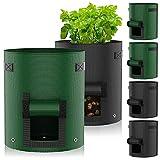Macetero Bolsa Planta 6Pack 7 Galones,JUCJET Bolsa de Verduras, Bolsas de Cultivo, para Plantas Vegetales Aptas para Plantas de Patata, Zanahorias, Tomates, Cebollas y Otros