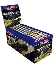 FIESTA Maromas Gel Dulce de Regaliz Negro Envuelto Individualmente Sabor Regaliz Auténtico - Caja de 48 unidades