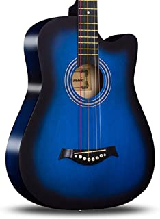 BAIYING Acoustic Guitar Bedroom Beginner Family Teaching Fingerstyle Folk Performance 38-inch Portable Solid Wood, 8 Color...