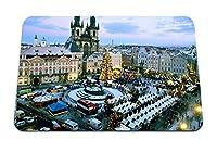 26cmx21cm マウスパッド (クリスマスマーケット旧市街広場プラハチェコ共和国) パターンカスタムの マウスパッド