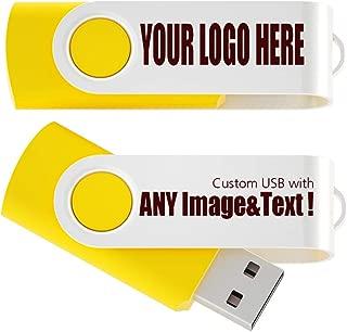 MEINAMI Customized USB Flash Drive Thumb Drive Personalized Memory Stick 4GB 25 Pack