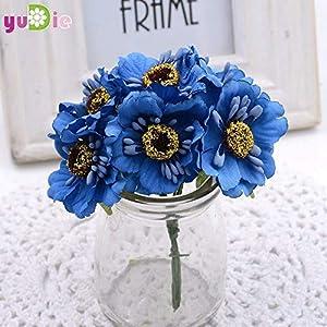 6pcs 3.5cm Silk Cherry Artificial Poppy Bouquet DIY Handmade Tattoo Wreath Scrapbook Wedding Decoration Craft Flower