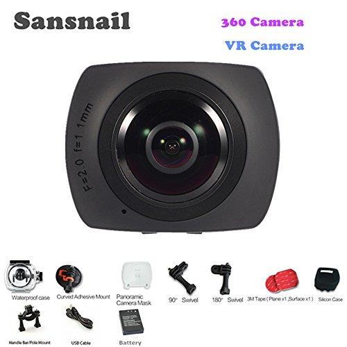 sansnail SV500Action Kamera V1Panorama 360Video-Kamera Full HD 1440p 1080P 30FPS 8MP VR 220Fisheye Weitwinkel-Objektiv Dome WiFi Support Gyroskop