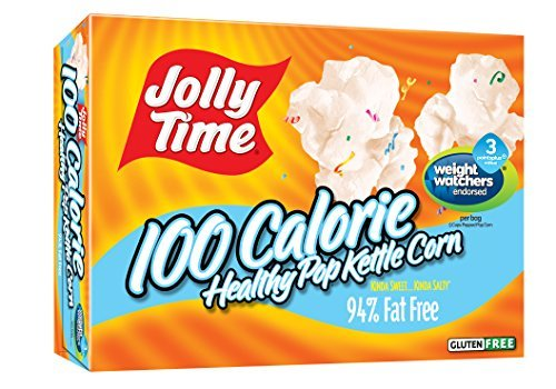 Jolly Time Healthy Pop Kettle Corn - 100 Calorie Microwave Popcorn Mini Bags, 4-Count Boxes (Pack of 12) by Jolly Time