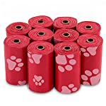 Best Pet Supplies Dog Poop Bags for Waste Refuse Cleanup, Doggy Roll Replacements for Outdoor Puppy Walking and Travel, Leak Proof and Tear Resistant, Thick Plastic - Red, 150 Bags (RD-150B) 6