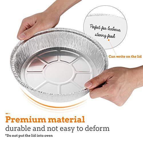 51d+pcPnNML - ASDAF 20pcs Einweg-Grill Pfannen mit Deckel aus Aluminium Foil Barbecue-Behälter für Fettauffangwannen Ersatz Liner Wannen
