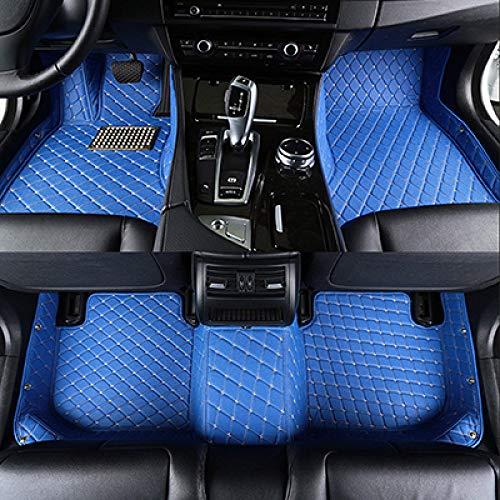 SJIUH Alfombra de Coche,Alfombrillas de Coche Personalizadas de 5 Asientos para Volkswagen Caddy para VW Beetle 2000-2020 Alfombrillas de Coche Accesorios para automóviles, Azul, China