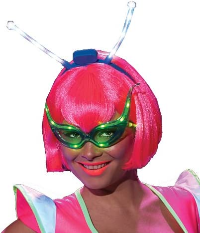 Rubie's Raleigh Mall Costume Alien Raver With Great interest Boppers Led Wig