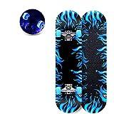 BMDHA Planche à roulettes 4 Coups éClat Muet, Skateboard Type à Double Bascule Un éRable De Qualité, Planche Skate Roue PU RéSistante à l'usure ÉMeri AntidéRapant