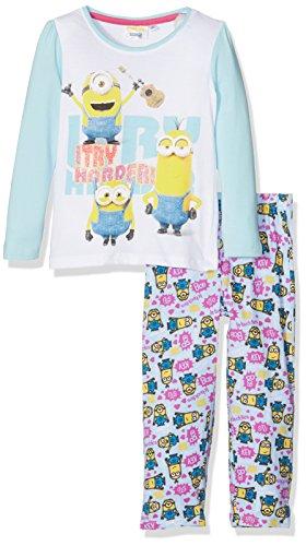 Universal Mädchen Zweiteiliger Schlafanzug Minion I Try Harder, Blau (Blue 13-4411TC), 6 Jahre