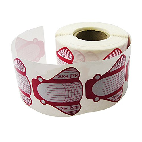 Bluelans® 1 Rolle (100 Stück) selbstklebende Pink Modellier Schablonen extra-breit für die künstliche Fingernagel-Modellage