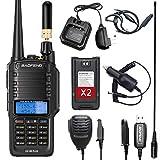 Airiton x Baofeng UV-9R Plus 8W Portable Ham Radio Dustproof & Waterproof IP67 Dual Band Two Way Radio Walkie Talkie with 771 Antenna Programming Cable and etc.