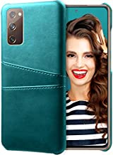 Galaxy S20 Fe 5G Case Compatible with Samsung Galaxy S20 Fe 5G Leather Case Shockproof with 2 Card Sleeve Women Men Business Phone Case Cover High-end Wallet Case for Samsung S20 Fe 5G