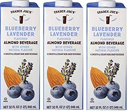 Trader Joe's Blueberry Lavender Flavored Almond Beverage 3-Pack
