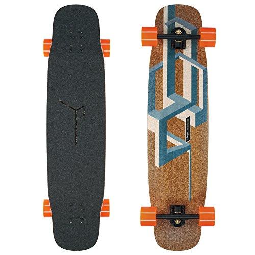 Loaded Boards Basalt Tesseract Bamboo Longboard Skateboard Complete (Dark Blue, 80a in Heat Wheels)