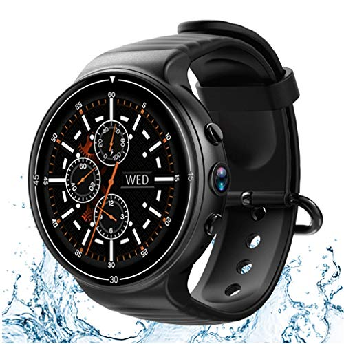 Best Review Of JIHUIA Waterproof Smart Watch Bluetooth with SIM Card Slot Sensor TF Card GPS Heart Rate Monitor Pedometer Support iOS Android – Best Gifts,Black