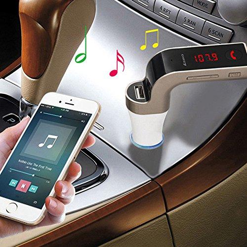 Transmissor FM Veicular Com Bluetooth Carg7 Carro MP3 USB SD Preto/Prata/Dourado (Cores sortidos)