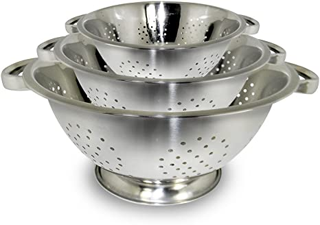Amazon Com Excelsteel Colander Set Stainless Steel Kitchen Dining