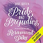 Pride and Prejudice                   By:                                                                                                                                 Jane Austen                               Narrated by:                                                                                                                                 Rosamund Pike                      Length: 11 hrs and 35 mins     2,014 ratings     Overall 4.8