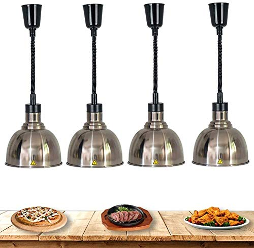 CHOUREN Lámpara 4 paquete de calor for las Partes Buffets, Alimentación Lámpara Heat luces de la cocina bufé servidor calientaplatos del metal de la lámpara, evitar que los alimentos se enfríen Equipo