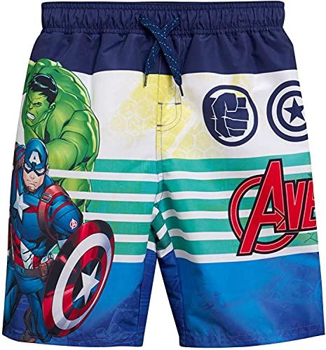 WFQTT Marvel Avengers Superhero Costume da bagno da ragazzo – Spider-Man Hulk, Captain America, Iron Man, A3, 12 anni