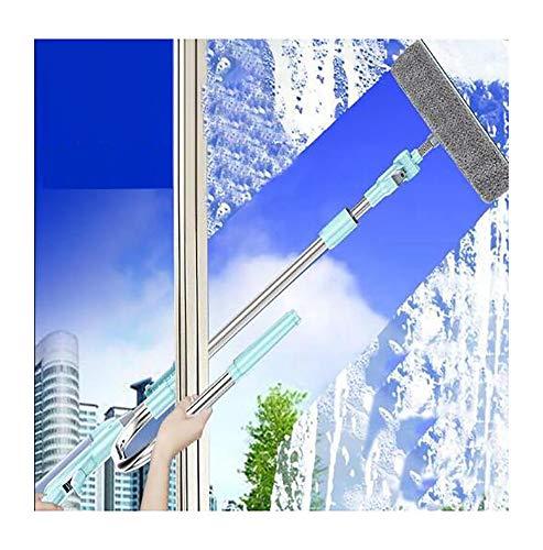 FZ FUTURE Rasquetas limpiacristales para Ducha,Limpiador de Cristales Window con Mango Largo para Lavar y Secar Mamparas de Ducha, Baños, Cocina con Palo telescópico
