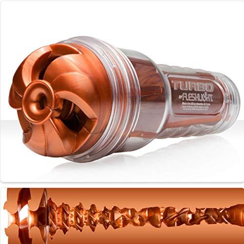 Fleshlight Turbo diskreter Masturbator aus realistischem Superskin Material (Thrust-Textur) kupferfarben