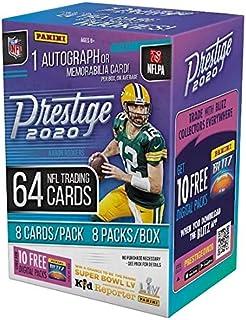 2020 Panini Prestige NFL Football BLASTER box (64 cards/bx incl. ONE Memorabilia or Autograph card)