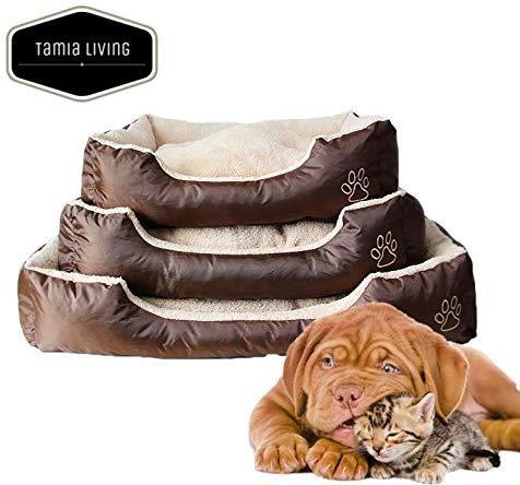 Tamia-Living Hundebett Katzenbett Hundekorb Hundekissen Haustier Hundedecke Beideseitig Bezug abnehmenbar (AD-04, 80X60X20cm)