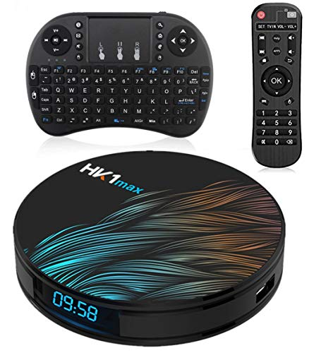 Sofobod HK1 MAX Smart Android 10.0 TV Box with Free Wireless Keyboard, 2GB RAM 16GB ROM, Ethernet LAN, 2.4G/5G Dual WiFi,HD, 4K, H.265 Decoding Set Top Box