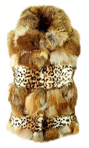 DX-Exclusive wear Damen Weste,Pelzweste/Gilet, aus Fuchs-Pelz Weste/KK-0008 (42)