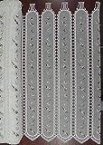 TEXTIL ITANA Visillo HOLANDES Cortina Cafe Guipure Color Crudo Bordado EN Rojo Y Verde Palas 10,5 CM Alto 91,5 CM Coral