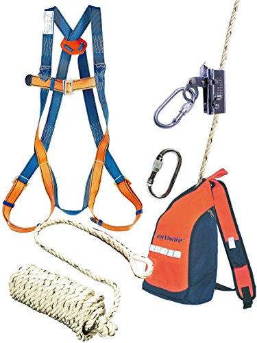 Vertisafe Dachdecker Set Sicherheitsgeschirr Absturzsicherung 10m Seil Dämpfer