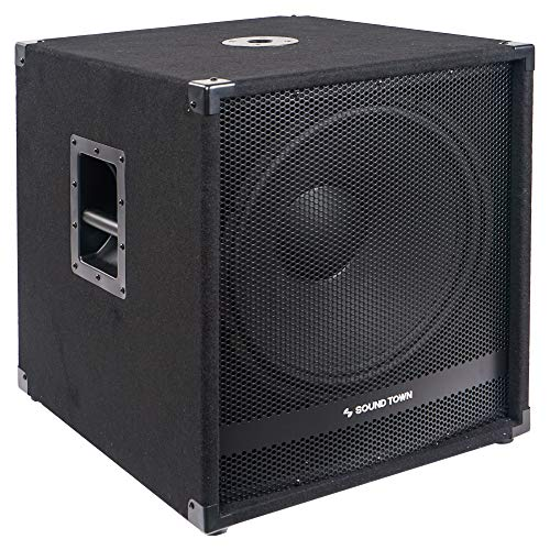 """Sound Town METIS Series 2000 Watts 18"""" Active Powered Subwoofer with 2 Speaker Outputs, DJ PA Pro Audio Sub with 4 inch Voice Coil (METIS-18SPW2.1)"""
