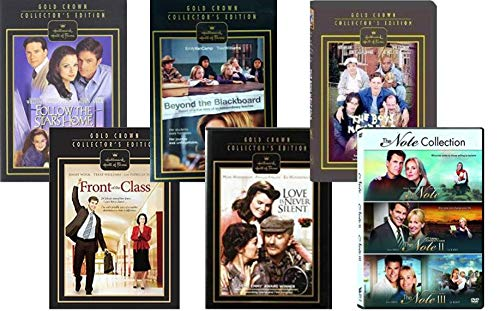 Hallmark Movies on DVD - Follow the Stars Home/ Front of the Class/ Beyond the Blackboard/ Love Is Never Silent/ The Boys Next Door/ The Note 1,2 & 3 (Gold Crown Collector's Edition)