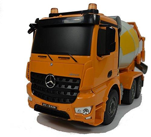 RC Auto kaufen Baufahrzeug Bild 2: BUSDUGA RC Mercedes-Benz Arocs LKW Betonmischer 2,4Ghz ferngesteuert - LED Blinklicht und Licht - Motorsound, Hupe, INKL. AKKU & Ladegerät - komplett Set*