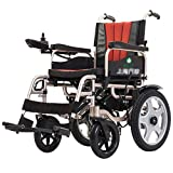 EMOGA Electric Wheelchair,28Kg Foldable And Lightweight Powered Wheelchair, 360° Joystick, Weight Capacity 100Kg,Seat Width 45Cm